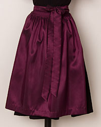 Apron, medium-length, plum