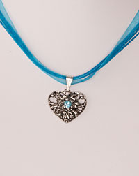Necklace heart-edelweiss