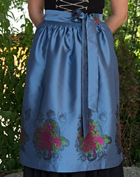 Apron medium- length, dove blue
