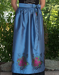 Apron long, dove blue