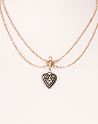 """Lisa""  necklace heart beige"