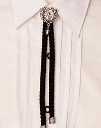 Cord- necklace black
