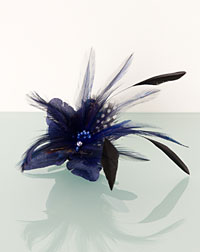 Feather clip blue
