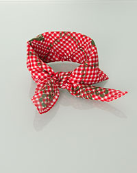 """Hirsch"" neckerchief vines+deer red"