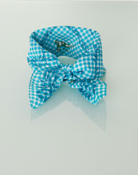 """Hirsch"" neckerchief vines+deer turquoise"