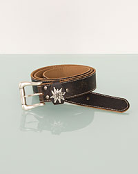 Belt with edelweiss