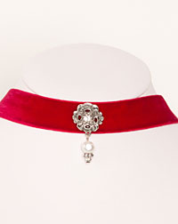 """Ornament"" choker red"