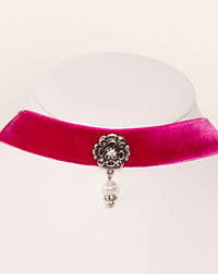 """Ornament"" choker pink"