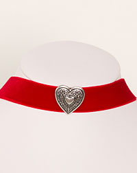 """Herz"" choker red"