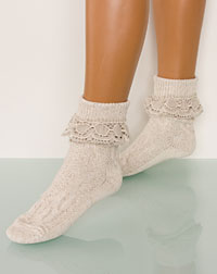 Socks with a frill nature