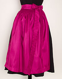 Apron, medium-length, magenta