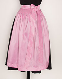 Apron, medium-length, pink