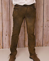 """Haibach"" leather trousers"