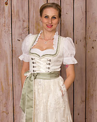 """Hasloch"" dirndl + apron wedding"
