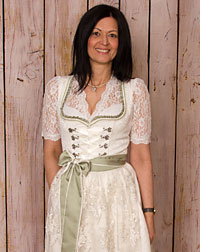 dirndl + apron, wedding creme