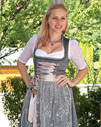 """Kissing"" dirndl + apron"