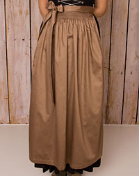 Cotton apron long, taupe