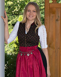 """Mertingen"" stretch-dirndl + apron"