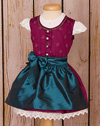 Baby dirndl with two aprons+blouse