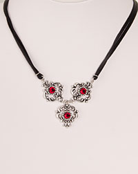 """Ella"" necklace red"