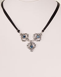 """Ella"" necklace blue"