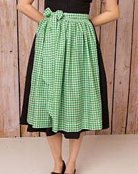 Cotton apron medium-length, green