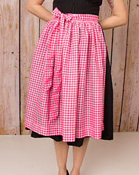 Cotton apron medium-length, pink