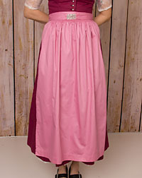 Cotton apron long, pink