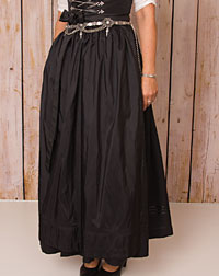 Apron long, black