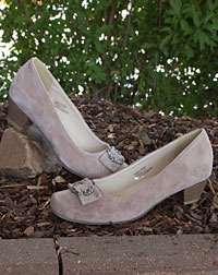 """Randers"" Trachtenschuhe taupe 4cm"