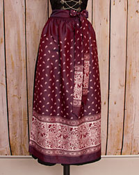 Apron long, plum