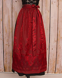 Apron long, red