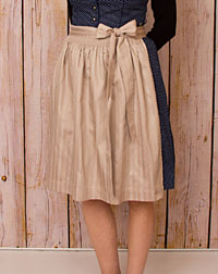 Apron, short-length, taupe