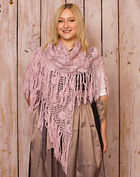 Poncho crocheted rose