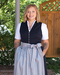 """Viona"" waitress dirndl dark blue"