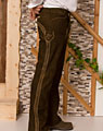 """Welzow"" long leather trousers"