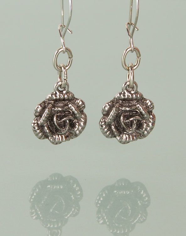 """Rose""  earrings - Bild vergrößern"