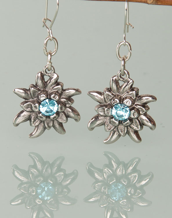 """Marie"" earrings light blue - Bild vergrößern"