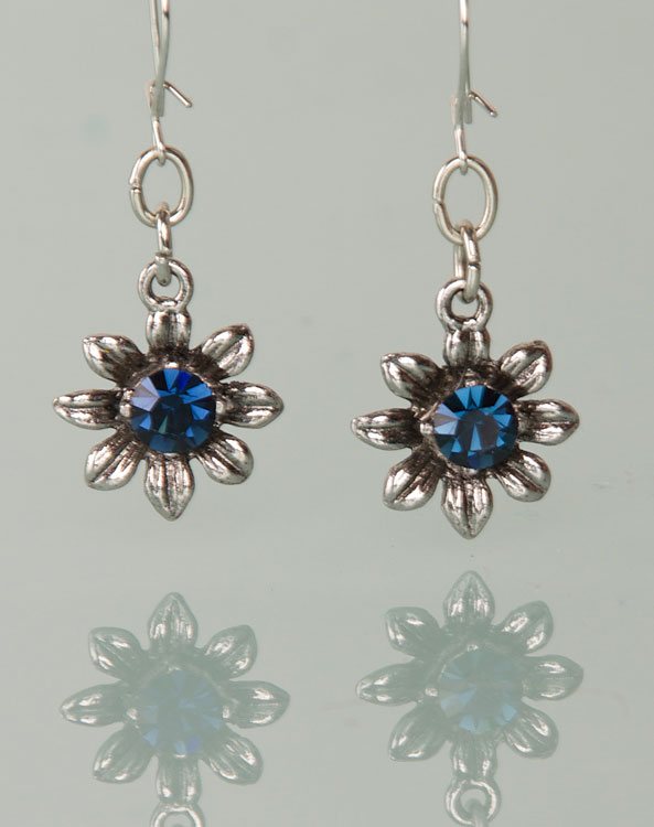 """Blume"" earrings blue - Bild vergrößern"